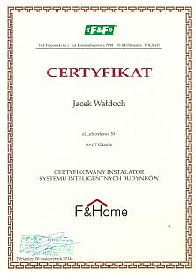 FandF certyfikat